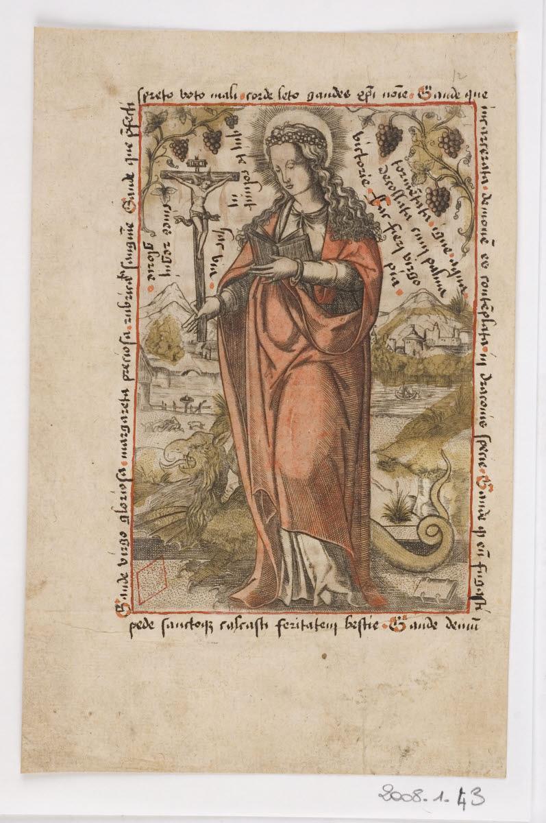 anonyme (graveur) : Sainte Marguerite
