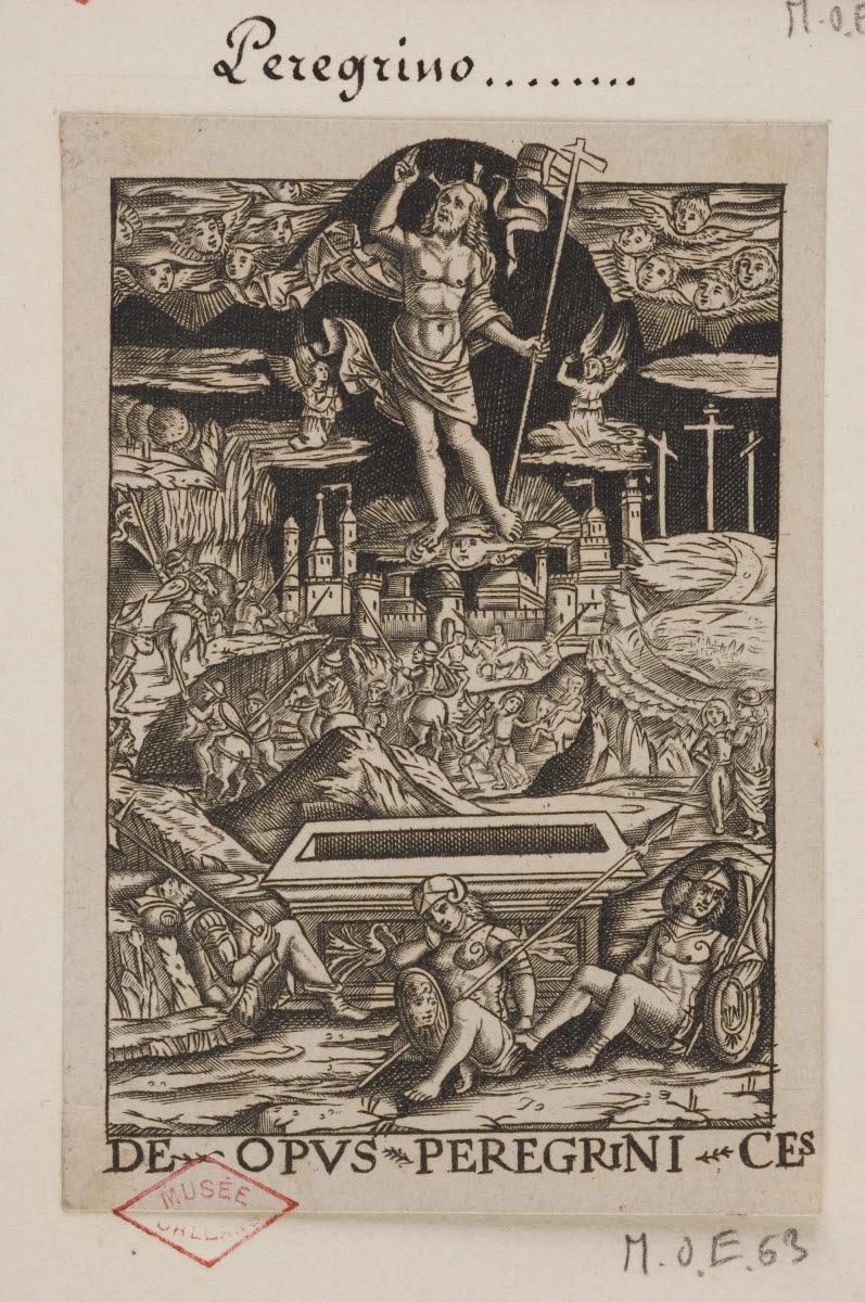 anonyme (graveur), PELLEGRINI Stefano (inventeur) : Résurrection du Christ