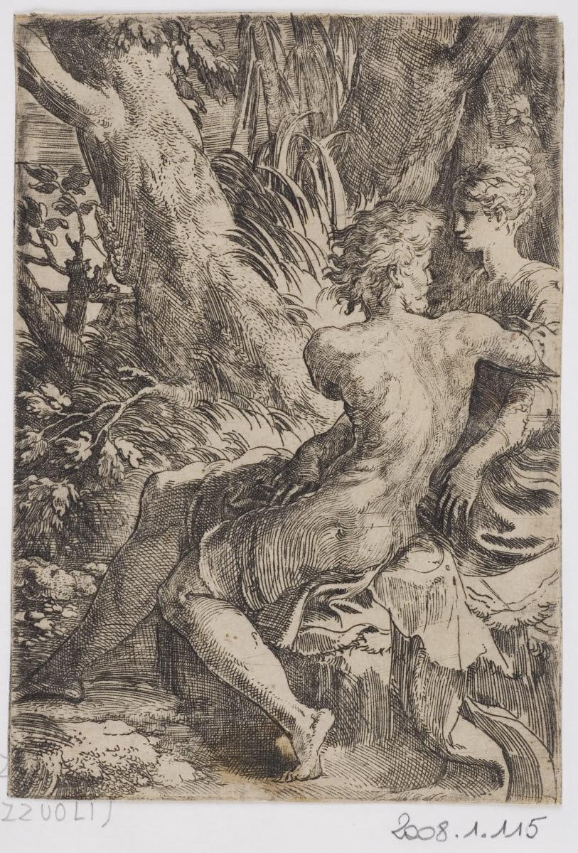 MAZZOLA Francesco (graveur, inventeur), LE PARMESAN (dit) : Les Deux amants
