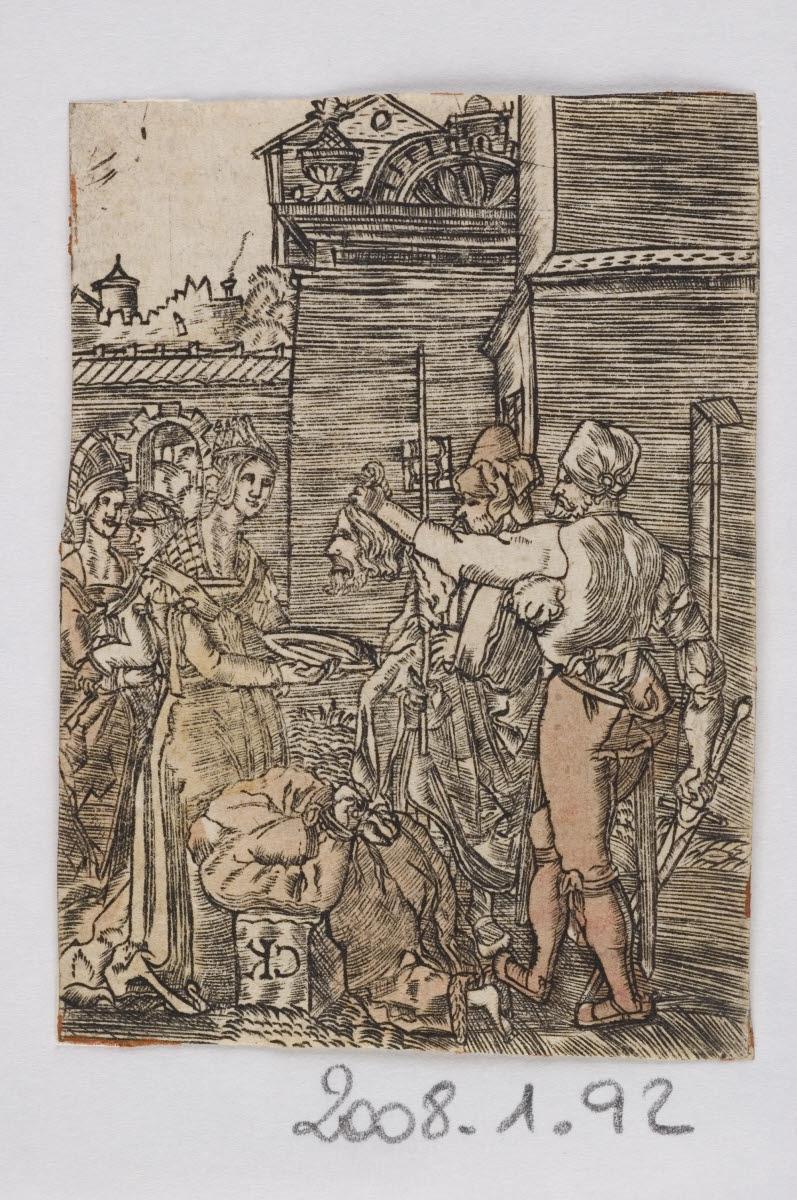 anonyme (graveur), Monogrammiste C K (inventeur, d'après) : Décollation de saint Jean-Baptiste