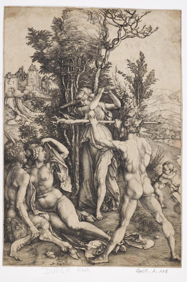 DURER Albrecht (graveur; inventeur) : Hercule à la croisée des chemins