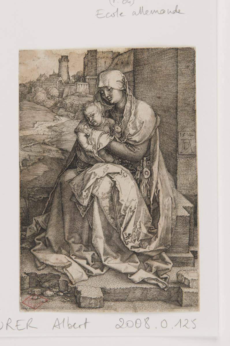 La Vierge à l'Enfant auprès d'une muraille_0