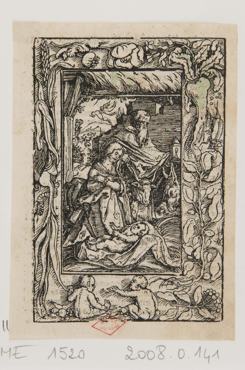 EGENOLFF Christian (imprimeur), GRIMM Sigmund (imprimeur), WEIDITZ Hans I (graveur, inventeur), WIRSUNG Marx (imprimeur) : Nativité