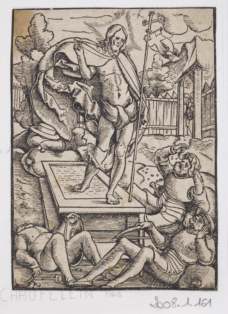 MAITRE AUX INITIALES I S (graveur) : La Résurrection