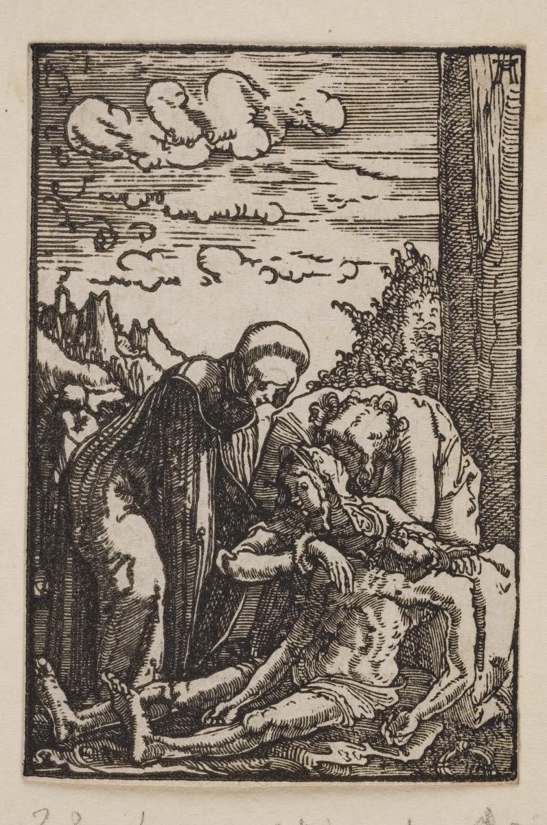 ALTDORFER Albrecht (inventeur, d'après, graveur) : La Lamentation sur le corps du Christ