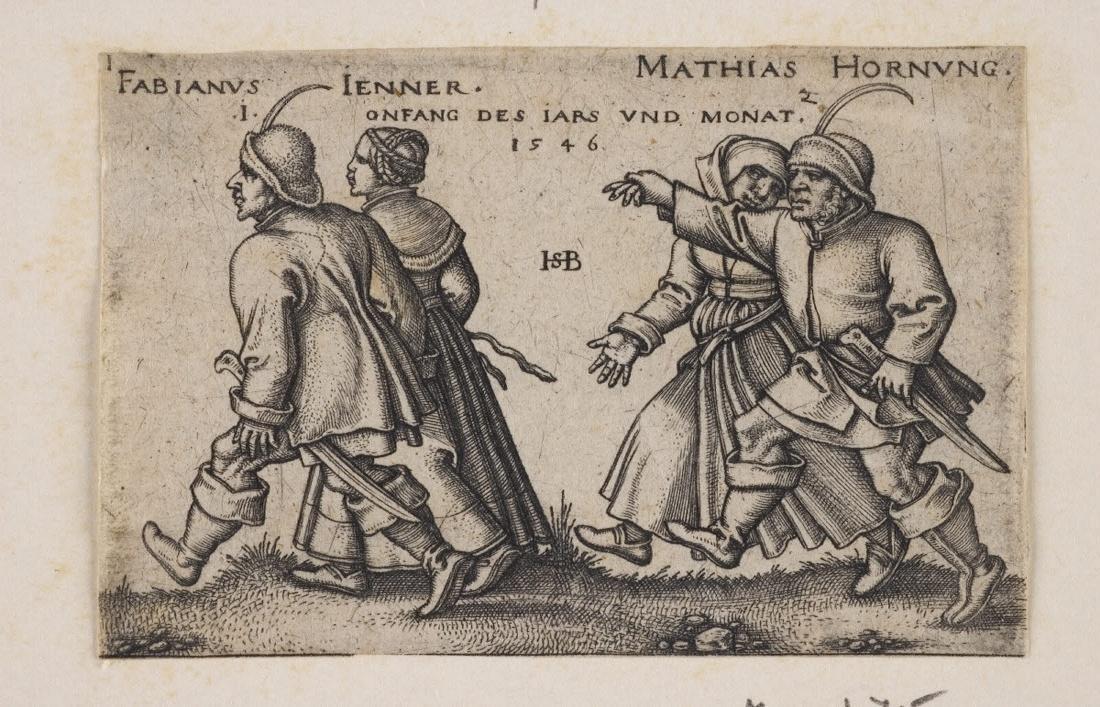 BEHAM Hans Sebald (graveur, inventeur) : Janvier et février