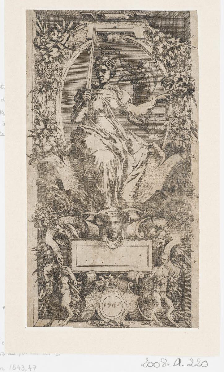 DUMONSTIER Geoffroy (inventeur, d'après, graveur) : La Justice