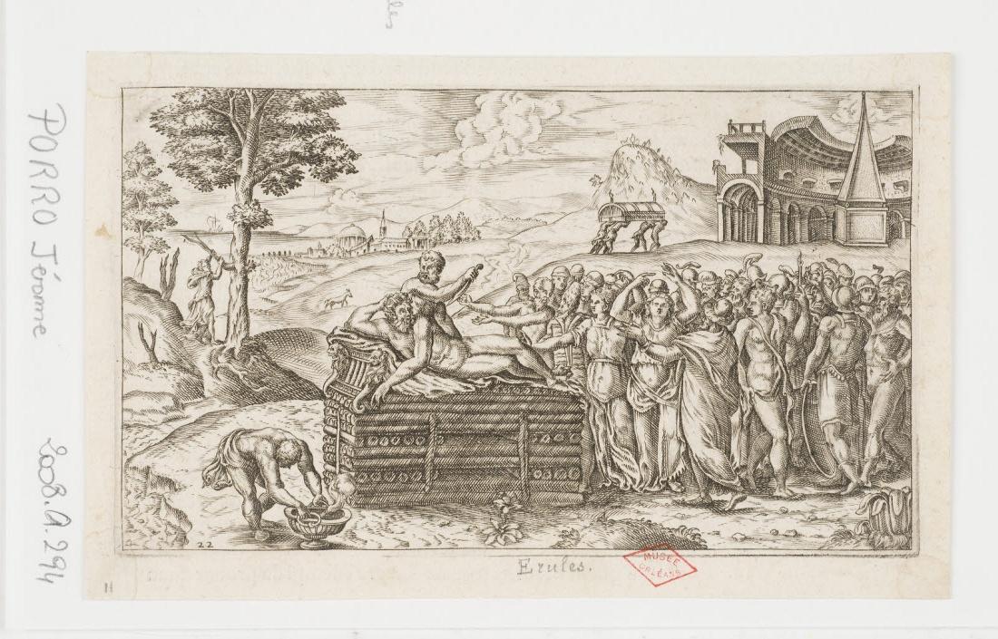 GALIGNANI Simone (éditeur), PORRO Girolamo (graveur, inventeur) : Funérailles des Erules