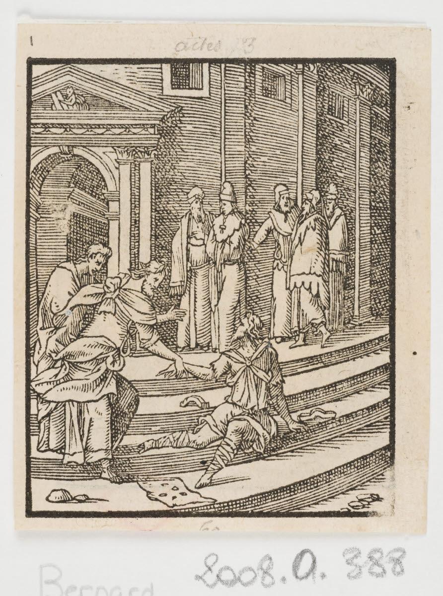 Guérison d'un infirme au Temple/La Lapidation de saint Etienne_0