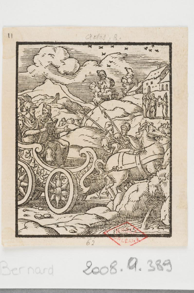 SALMON Bernard (graveur, inventeur), TOURNES Jean de (éditeur, imprimeur) : Philippe et l'eunuque Ethiopien/La Conversion de saint Paul