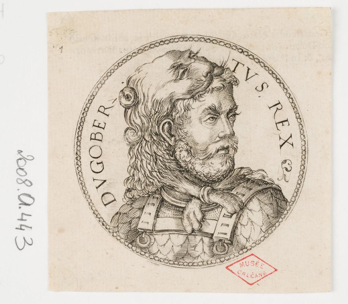 WOEIRIOT DE BOUZEY Pierre (inventeur, graveur) : Dagobert, roi d'Austrasie