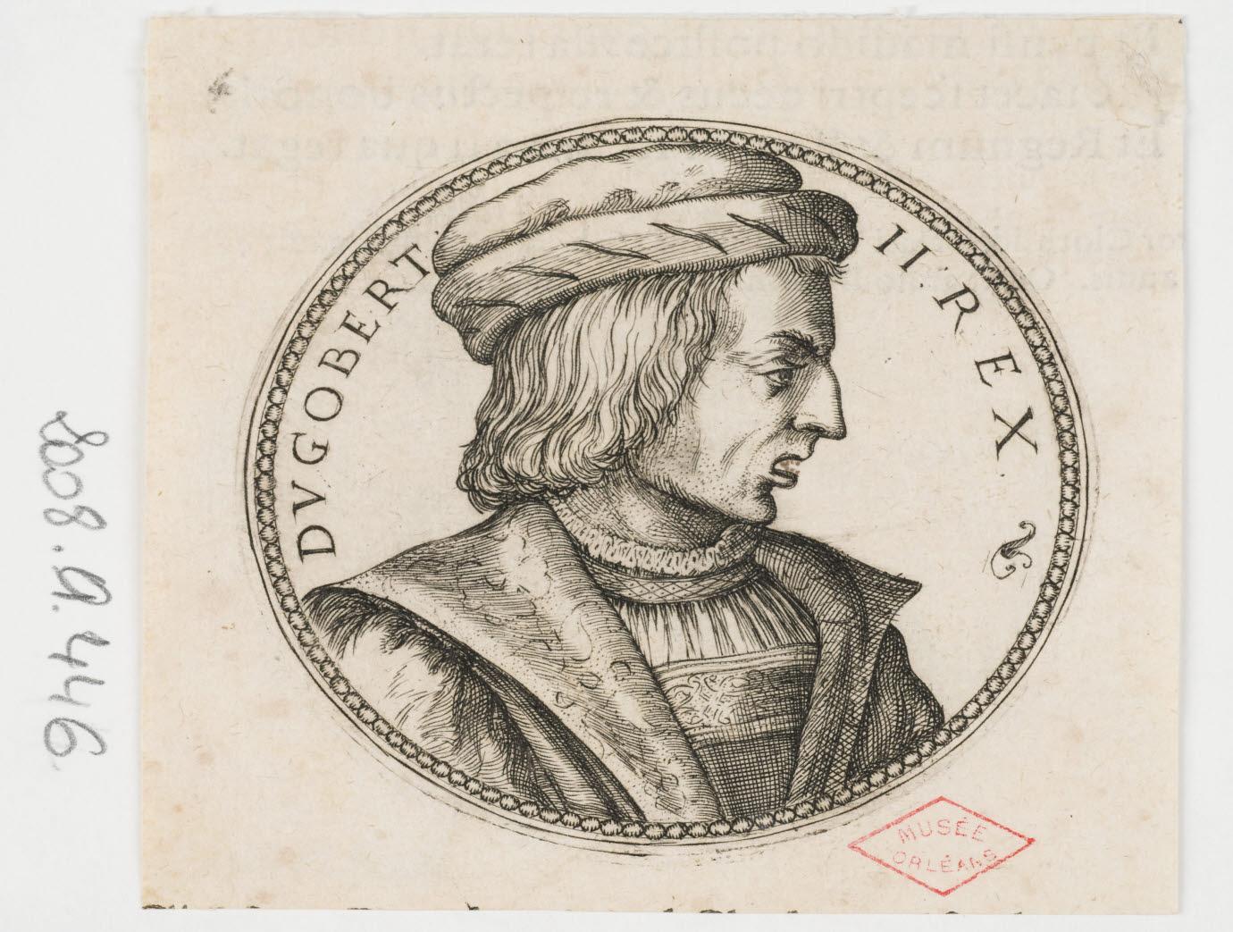 WOEIRIOT DE BOUZEY Pierre (inventeur, graveur) : Dagobert II, roi d'Austrasie