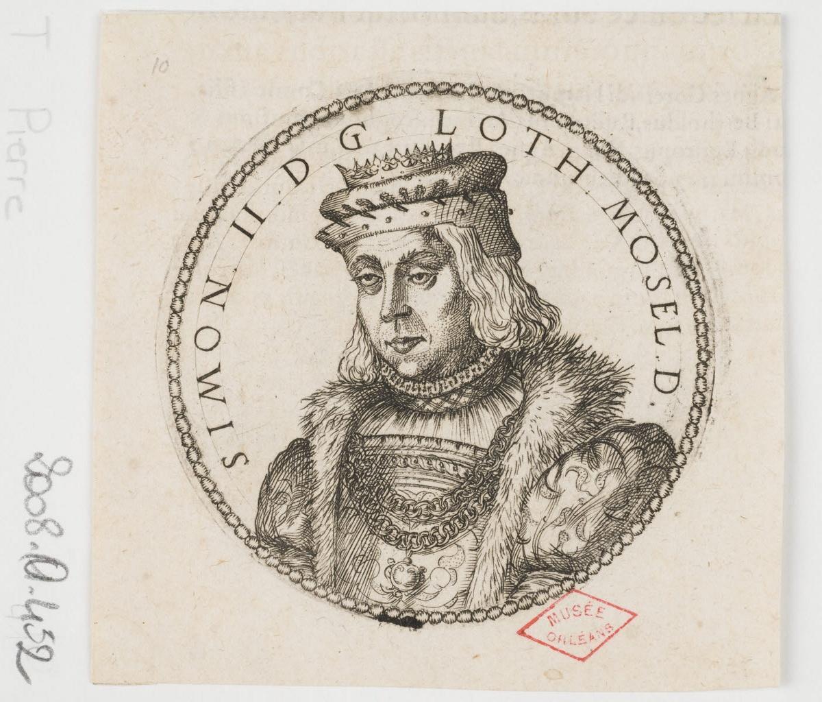 WOEIRIOT DE BOUZEY Pierre (graveur, inventeur) : Simon II, duc de Lorraine