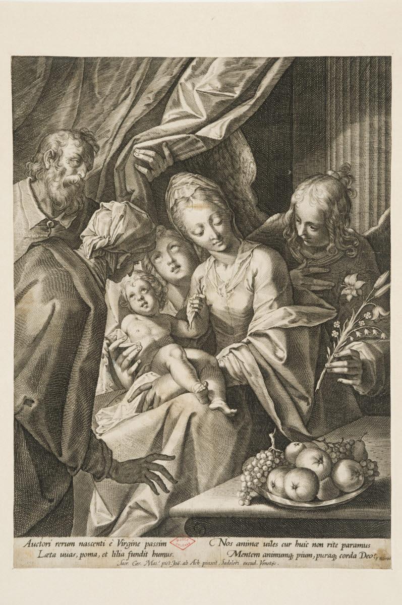 Sainte Famille avec deux anges_0
