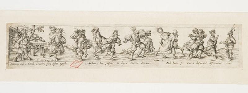 BRY Théodore de (inventeur, graveur) : Danse de paysans et paysannes