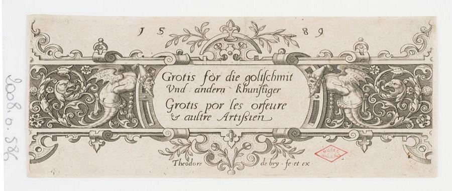 BRY Théodore de (graveur, éditeur, inventeur) : Cartouche d'ornement