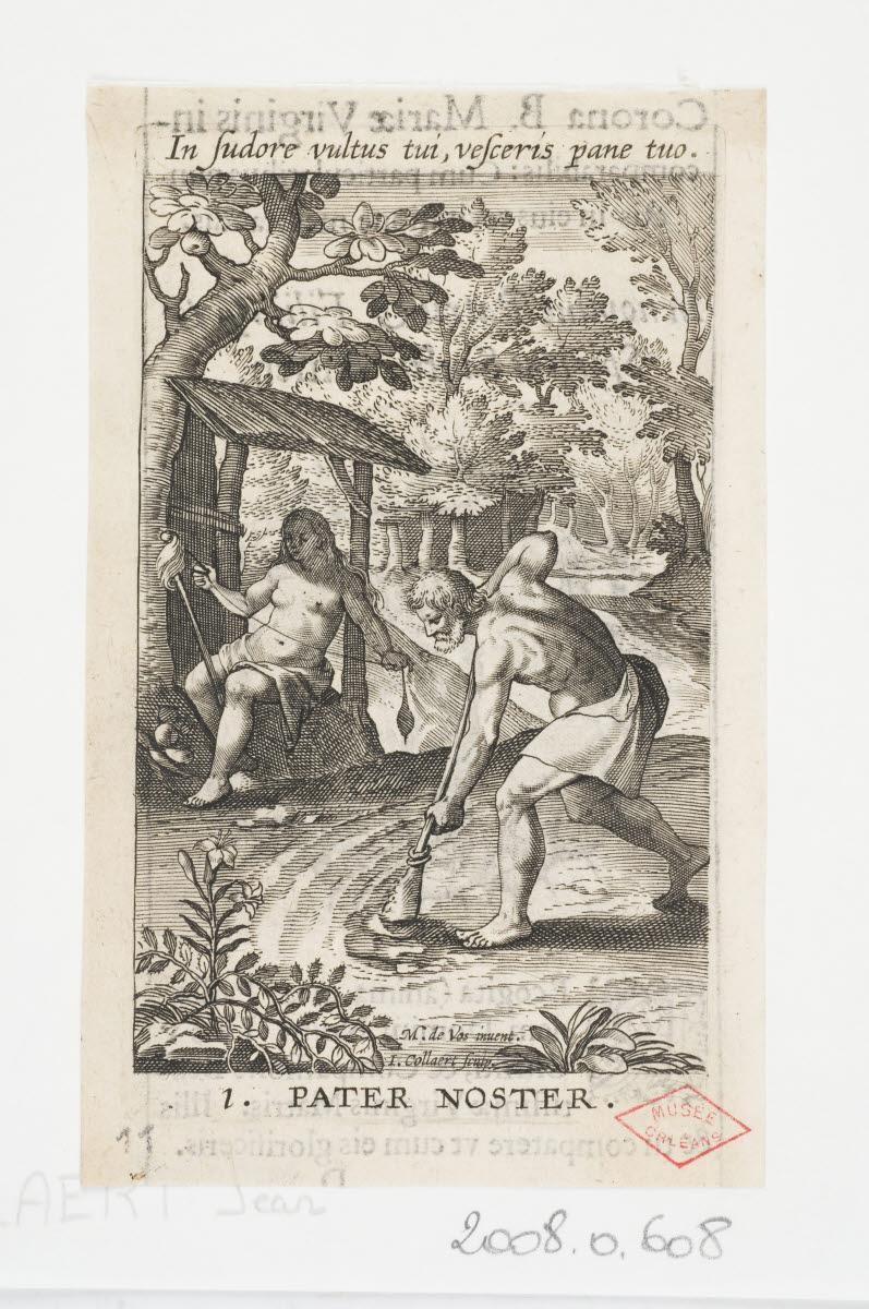 Adam et Eve au travail/La Vierge dans une couronne d'épines_0