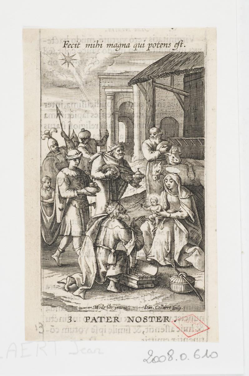 COLLAERT Hans I (graveur), VOS Marten de (inventeur, d'après) : L'Adoration des mages
