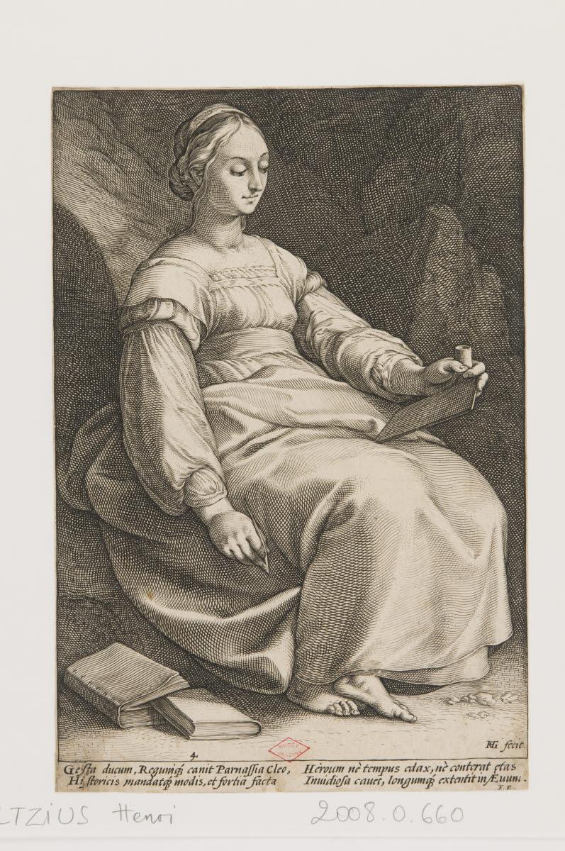 GOLTZIUS Hendrick (graveur) : Clio