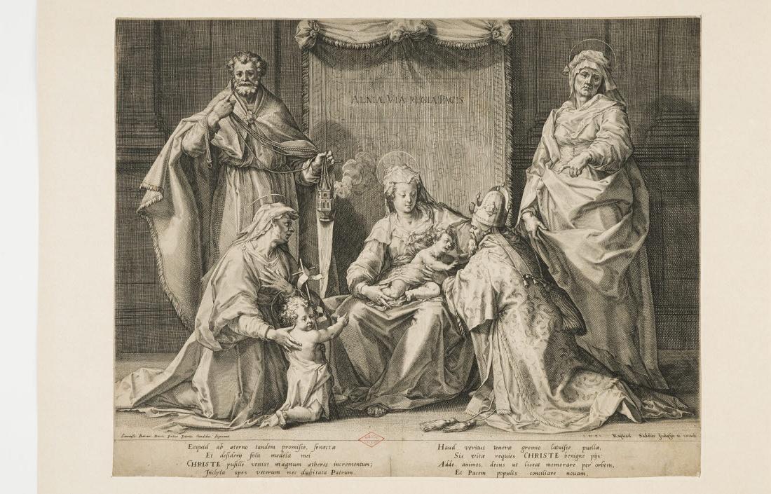 Sainte conversation avec saint Zacharie, sainte Anne, saint Joachim (ou saint Joseph?), sainte Elisabeth, saint Jean-Baptiste et la Vierge à l'Enfant_0