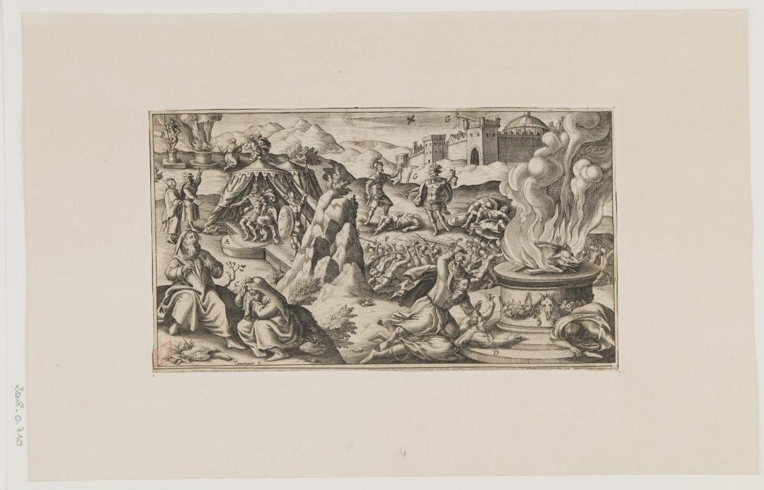 TAVERNIER Melchior (inventeur, graveur) : Scène de la Bible