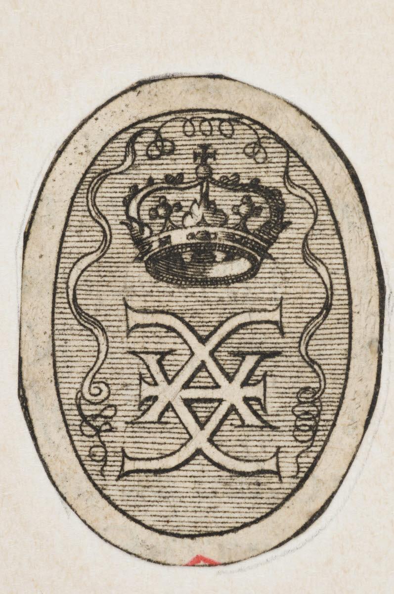 VEEN Gysbert Van (graveur), VEEN Otto Van (inventeur, d'après) : Emblème à la couronne