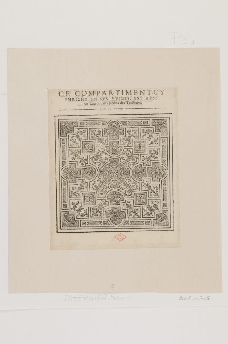 anonyme (graveur, inventeur, d'après) : Parterre/Parterre avec l'emblème d'Henri IV