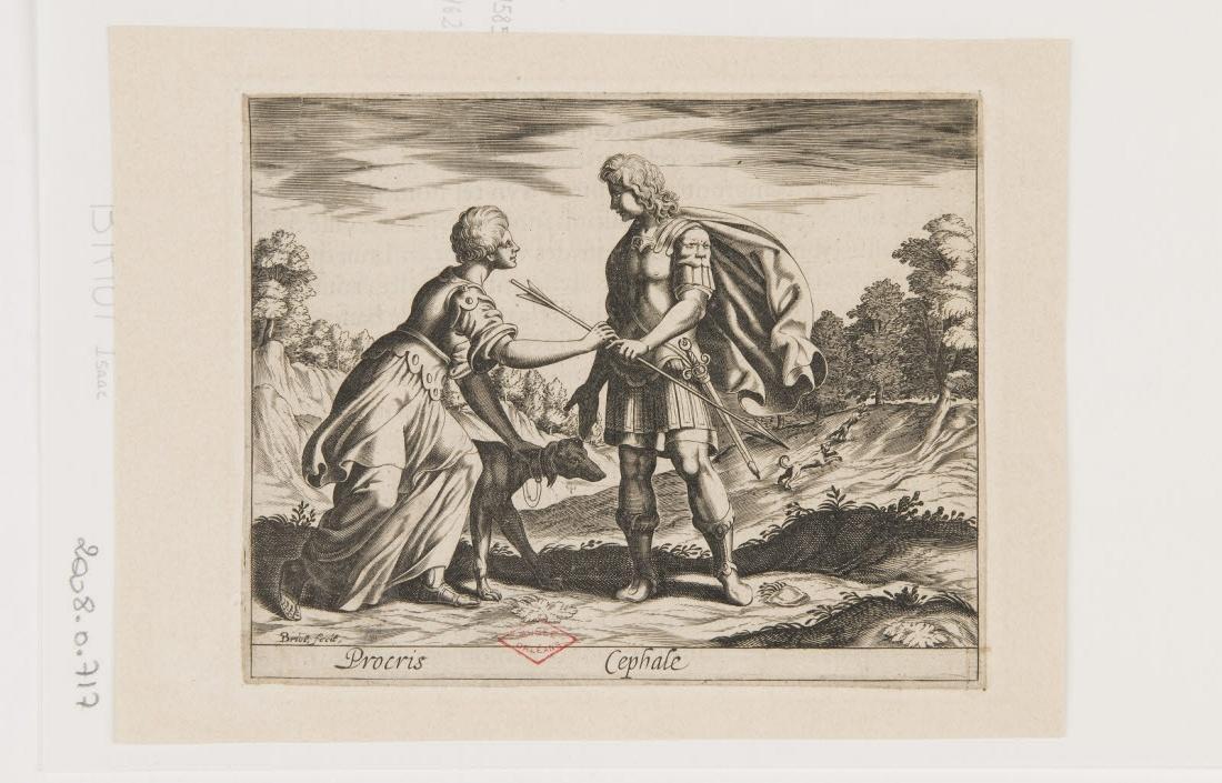 BRIOT Isaac (inventeur, graveur) : Céphale et Procris