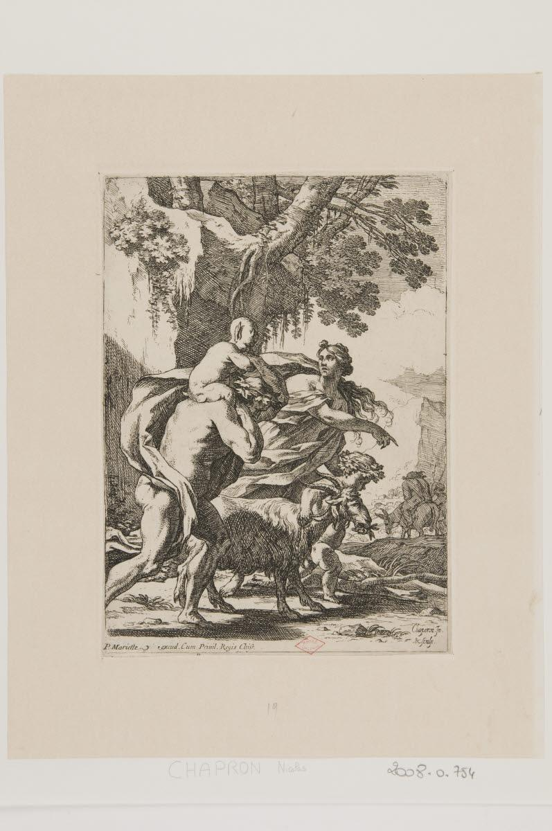 CHAPRON Nicolas (inventeur, graveur) : Bacchanale au cortège de Silène