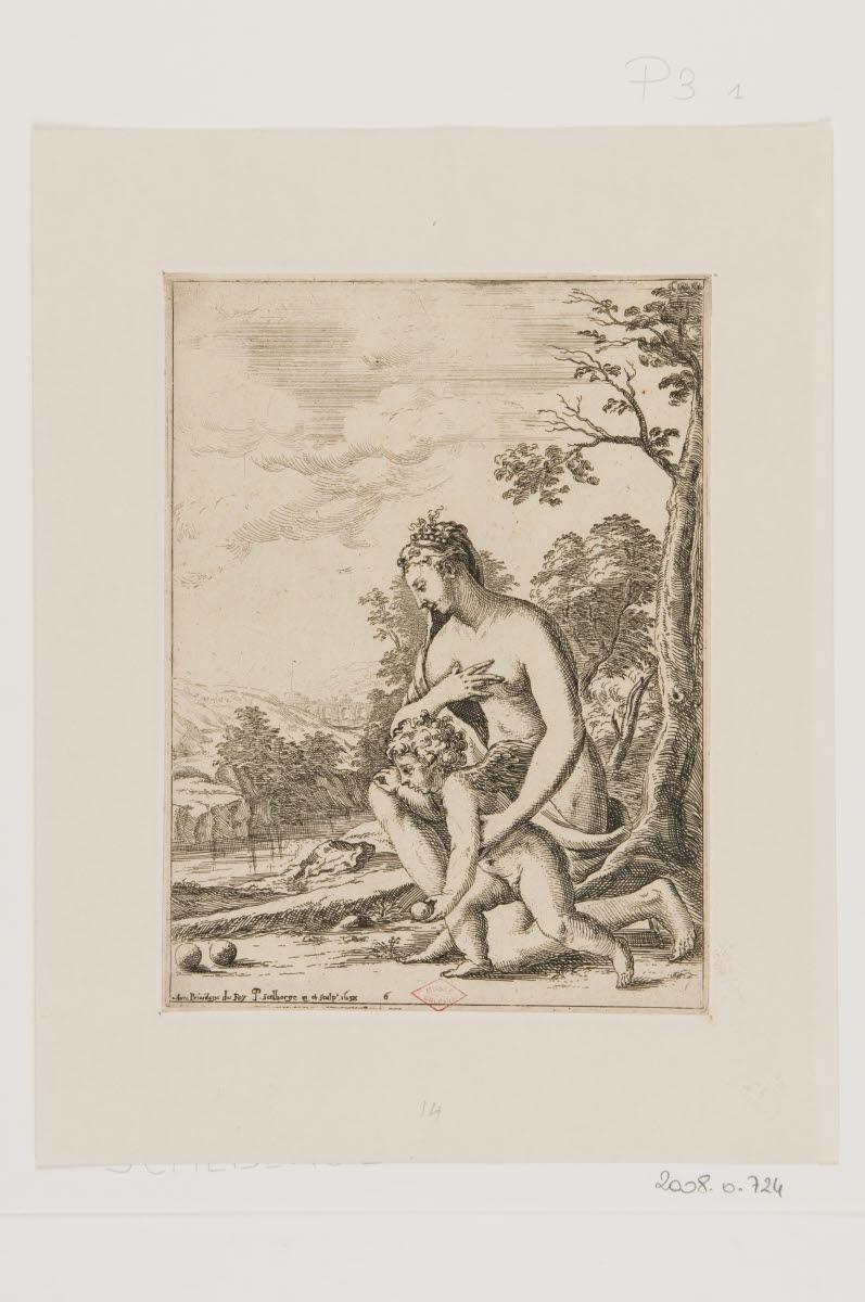 Vénus et l'Amour jouant aux boules_0