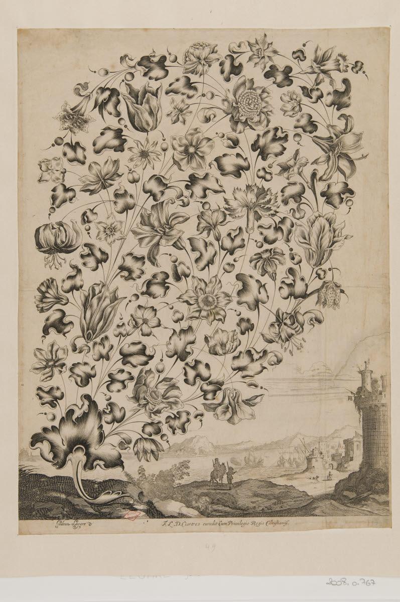 LEGARE Gédéon (graveur, inventeur) : Grande palmette de joaillerie
