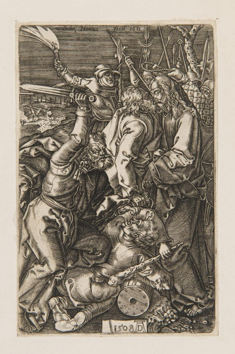 DURER Albrecht (inventeur), HAEN Willem de (graveur) : L'Arrestation du Christ