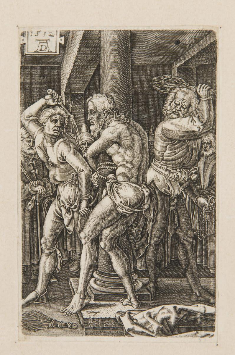 DURER Albrecht (inventeur, d'après), HAEN Willem de (graveur) : La Flagellation du Christ