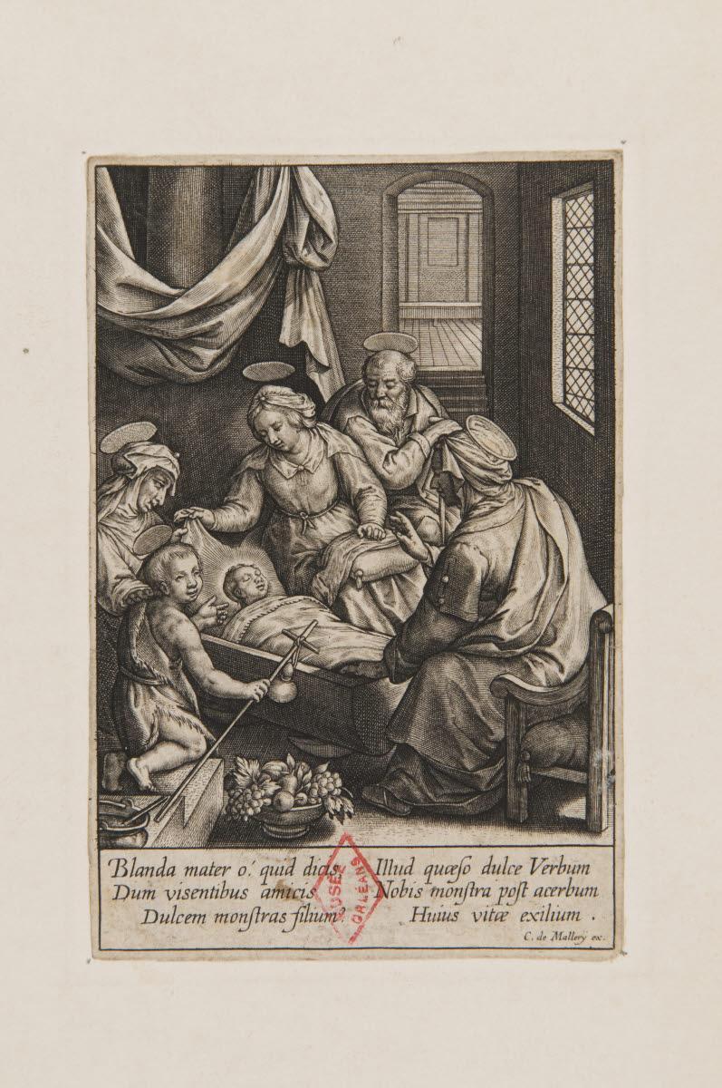 La Sainte famille avec saint Jean-Baptiste, sainte Elizabeth et sainte Anne (?)_0