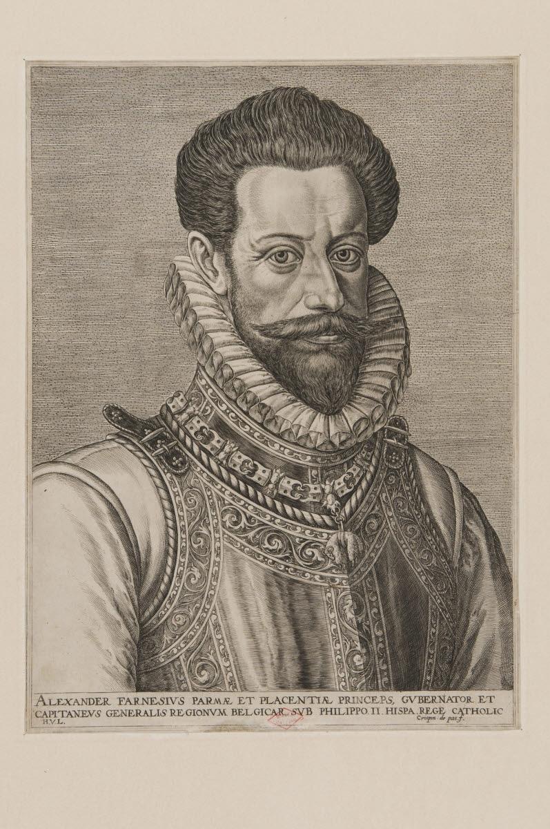 PASSE Crispin I Van de (?, inventeur, graveur), PASSE Crispin II Van de (?, inventeur, graveur) : Alexandre Farnèse