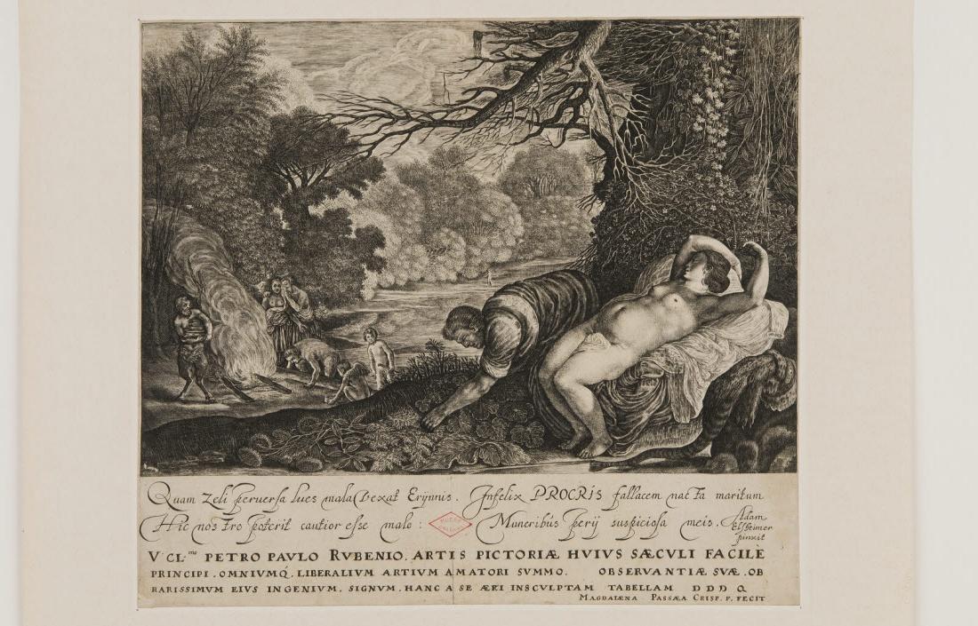 ELSHEIMER Adam (inventeur, d'après), PASSE Magdalena Van de (graveur) : Procris