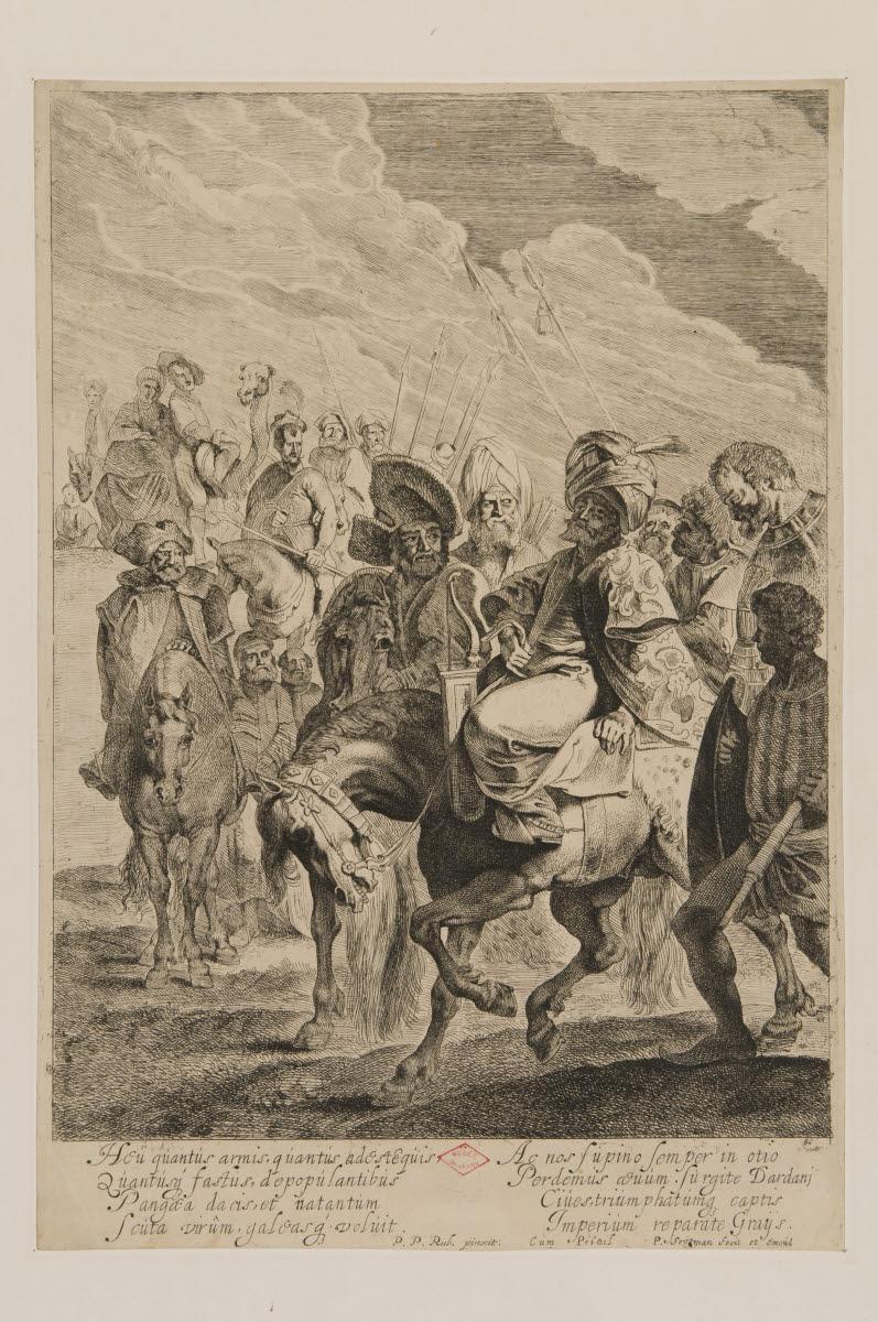RUBENS Peter Paul (inventeur), SOUTMAN Pieter Claesz (graveur, éditeur) : Cavalcade turque