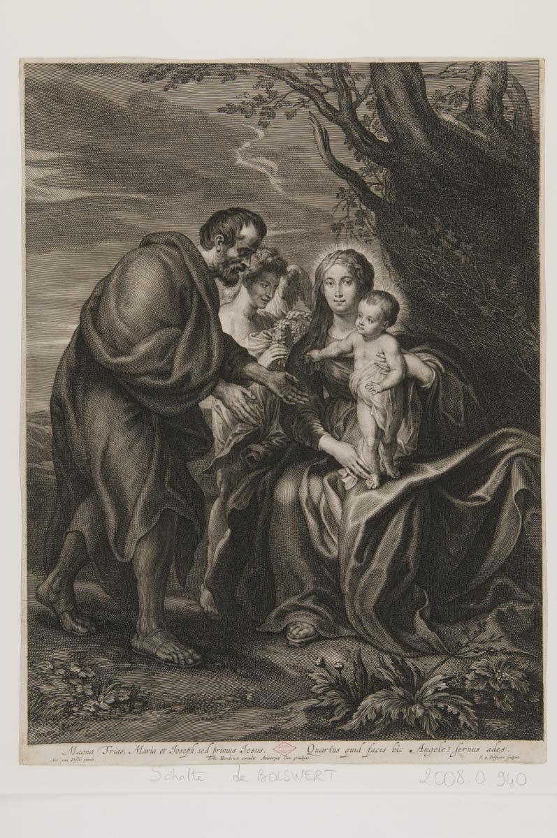BOLSWERT Schelte Adams (graveur), DYCK Anton Van (inventeur, d'après), HENDRIX Gilles (éditeur) : Le Repos pendant la fuite en Egypte