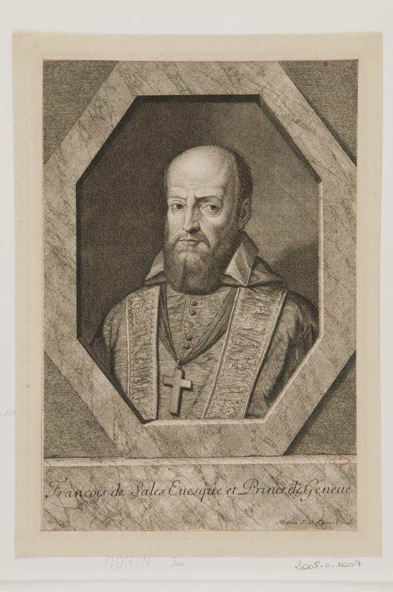 anonyme (inventeur), MORIN Jean (graveur) : Saint François de Sales
