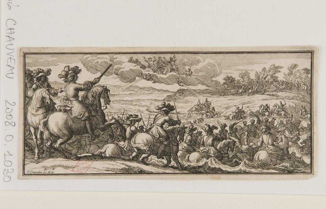 Une armée traversant un fleuve_0