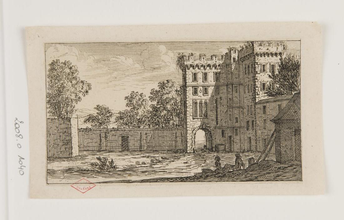 Cour d'un château entourée d'arbres_0