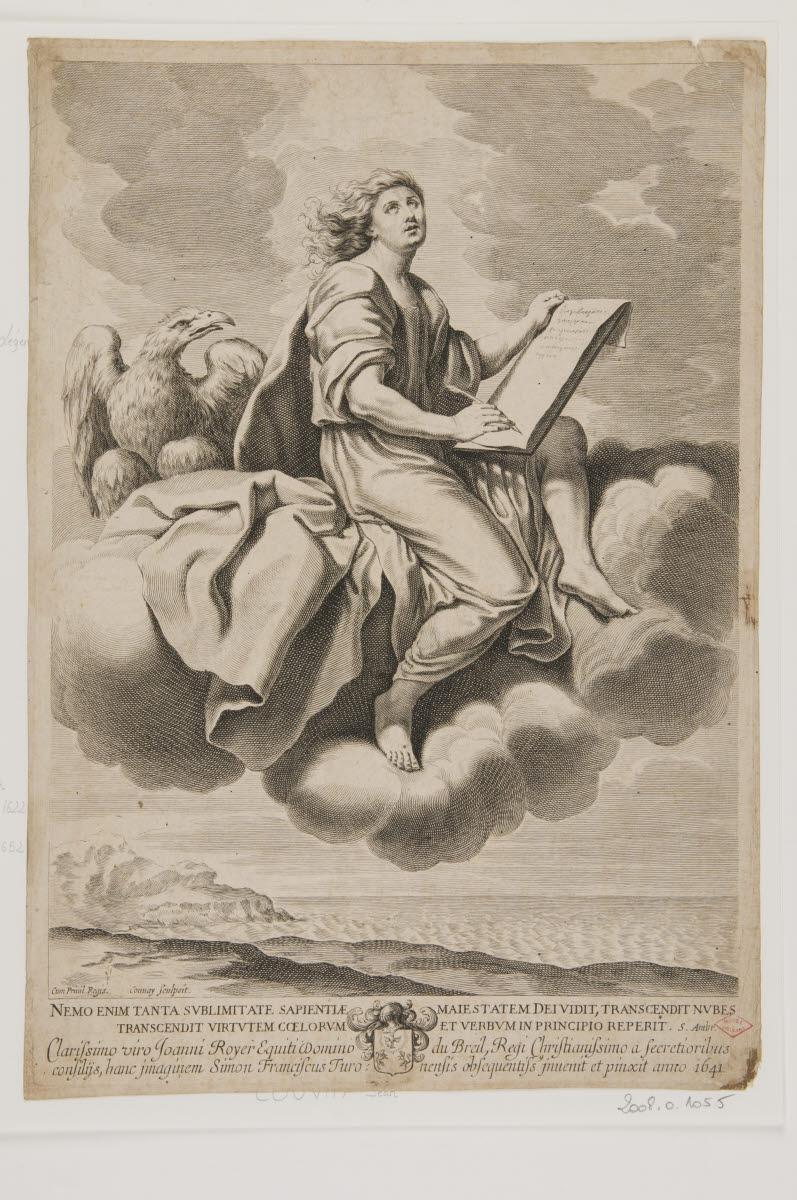 COUVAY Jean (graveur), FRANCOIS Simon (inventeur, d'après) : Saint Jean l'évangéliste