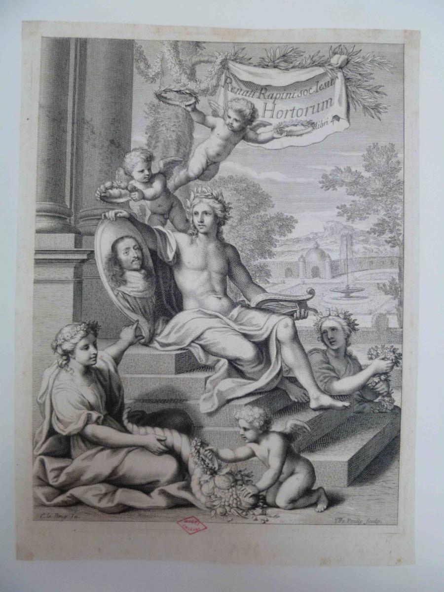Frontispice du livre IV des Jardins de René Rapin_0