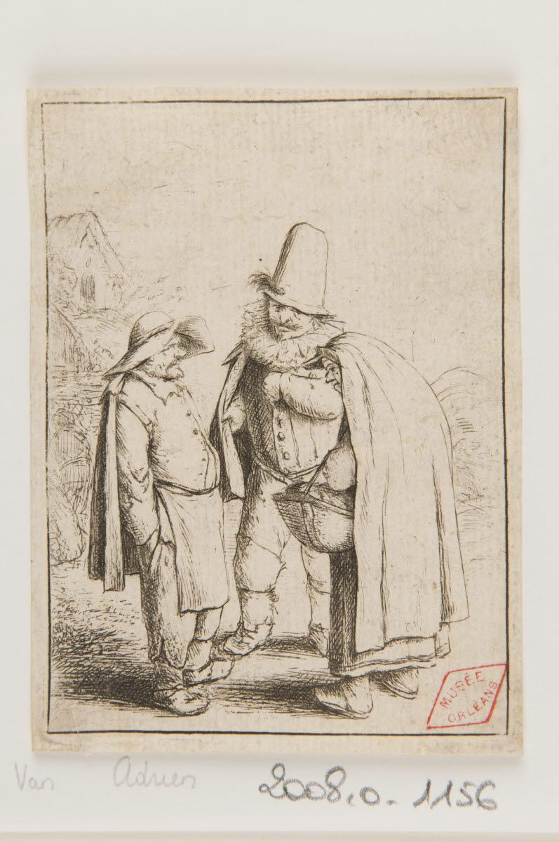 OSTADE Adriaen van (inventeur, graveur) : Trois figures grotesques