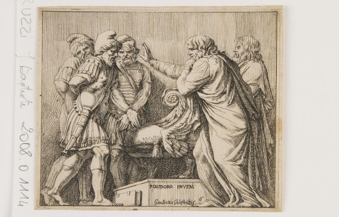 Deux sénateurs romains parlant à des rois vaincus enchaînés_0