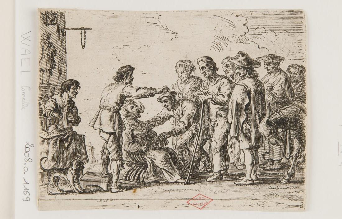 WAEL Cornelis de (graveur) : Le Charlatan