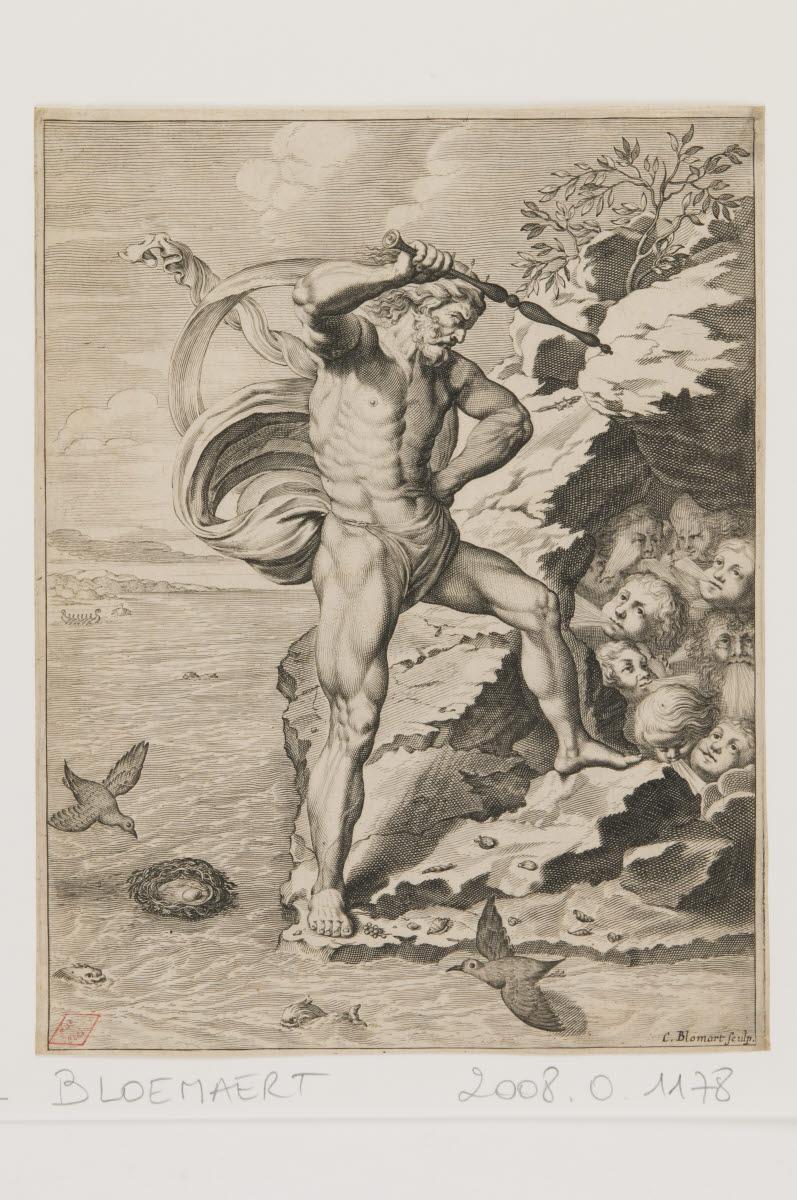 BLOEMAERT Cornelis II (graveur), VAN DIEPENBEECK Abraham (inventeur, d'après) : Eole roi des vents