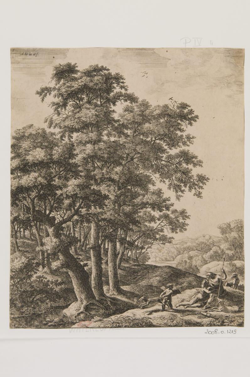 WATERLOO Anthonie (inventeur, graveur) : Vénus et Adonis