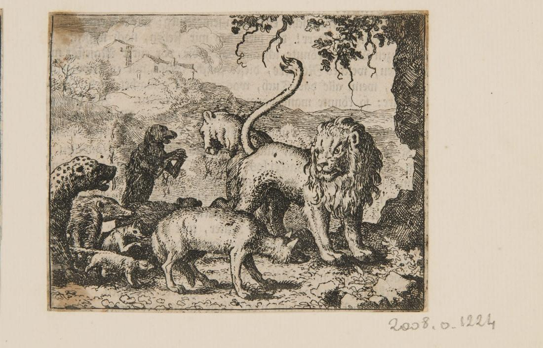Le renard accusé devant le lion_0