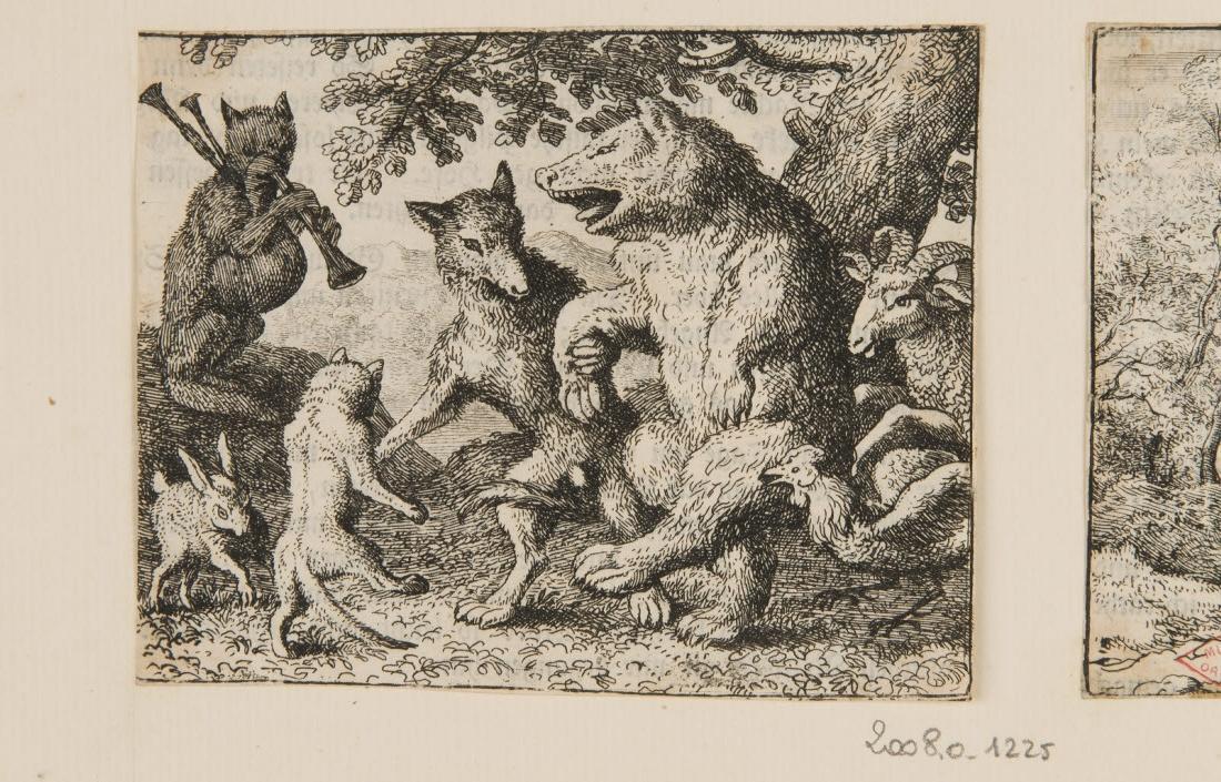 Fête célébrée à la cour du lion, en l'honneur de l'ours et du loup._0